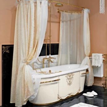 DIADEMA Lineatre Ванна свободностоящая из акрила классика с обшивкой деревянными панелями 175 62 80 см