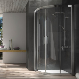 5925 Glass Shower - Box in aluminium Drop душевая кабина Blu Bleu