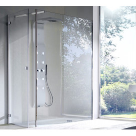 5926 Glass Shower - Box in acciaio con piatto Enjoy душевая кабина Blu Bleu