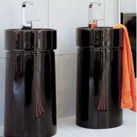 5050 Twin раковина черная напольная Flaminia