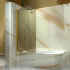 Gold Vismaravetro душевое ограждение на борт ванны классика профиль хром золото бронза черный медь, стекло прозрачное или с декором серое бронзовое 70-90 см