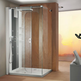 5930 Glass Shower - Box in acciaio con piatto Hole душевая кабина Blu Bleu
