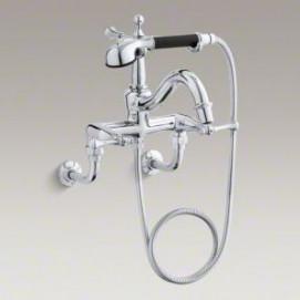 В наличии Revival Kohler Смеситель для ванны настенный / набортный / напольный, глянцевый никель