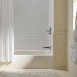 K-745 Seaforth Kohler 137х77см встраиваемая в нишу ванна из чугуна с интегрированной передней панелью белая слоновая кость кремовая