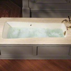 K-840 Maestro Kohler прямоугольная встраиваемая сверху или снизу ванна из эмалированного чугуна 167х813 мм