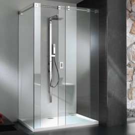 5929 Glass Shower - Box in acciaio con piatto Light душевая кабина Blu Bleu