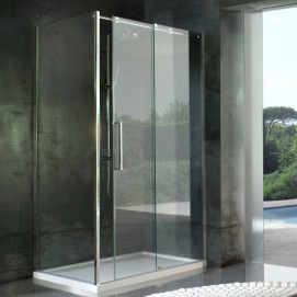 5920 Glass Shower - Box in acciaio Look душевая кабина Blu Bleu