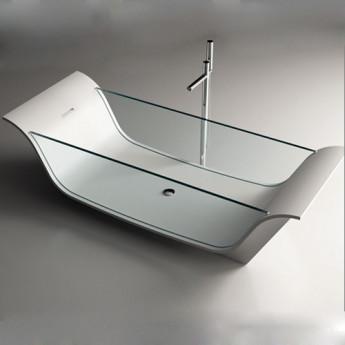 Chaise Longue Vitre Moma Design ванна отдельностоящая из Corian и стекла 195х75 и 195х90 см