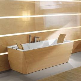 Kali Naja Blu Bleu ванна с деревянными панелями