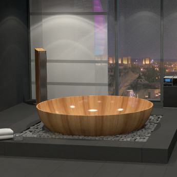 круглая ванна из дерева Ocean Circle Bagno Sasso