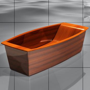 Wave Skipper Bagno Sasso ванна из дерева