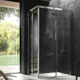 5924 Glass Shower - Box in aluminium York душевая кабина Blu Bleu