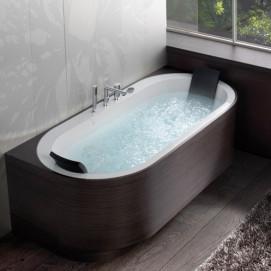 Yuma-Art Blu Bleu ванна овальная с деревянными панелями