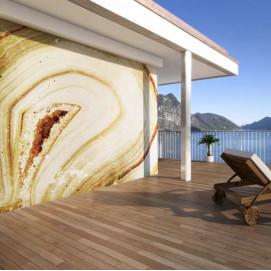 Стеновая панель, влагостойкая из алюминия с изображением структуры мрамора. Стоимость за м2.