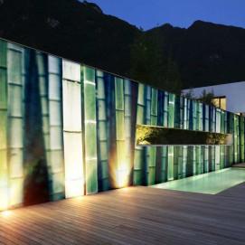 Стеновая панель, влагостойкая из алюминия с изображением бамбука. Стоимость за м2.