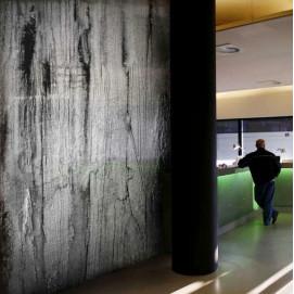 Стеновая панель влагостойкая изображением ржавый металл RUSTY