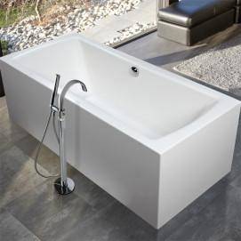 Amos Mauersberger ванна из минерального литья прямоугольная свободностоящая или встраиваемая с или без гидромассажа 170х80 180х80 180х90 190х90