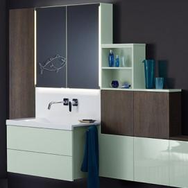 Композиция №1 Conceptwall комплект мебели для ванной комнаты Burgbad