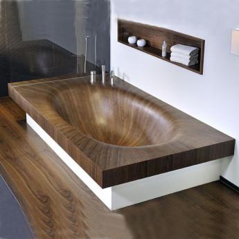 деревянная ванна Laguna Step Bagno Sasso