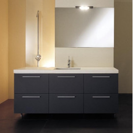 """Block Комплект мебели L180 см, отделка матовый """"grey"""". MOAB"""
