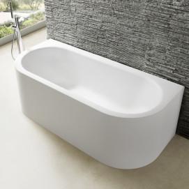 Chios Mauersberger ванна из минерального литья прямоугольная пристенная или угловая с или без гидромассажа 180х80