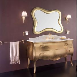 LUXURY 08 Комплект мебели L142 см, отделка Золотая фольга.