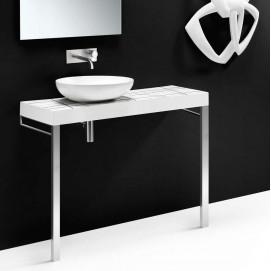 C200 консольная столешница 120см из керамики (ножки опционально) белая черная цветная или с декором AET FLOW CER