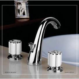 Fleur Blanc Коллекция смесителей для ванной комнаты Bongio