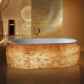 Ianto Mauersberger овальная ванна отдельностоящая c металлизированным декором 185х100