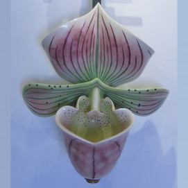 Pink & Green Orchid Urinal писсуар Clark Made