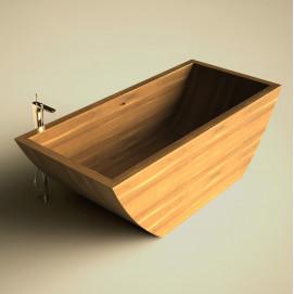 Ванна деревянная отдельностоящая UWD Puari C smal. L 134 P 70 H 65 см