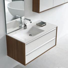 "SUMMIT 21 Комплект мебели L100-200, отделка шпон ""Wenge. Bianco lux"""