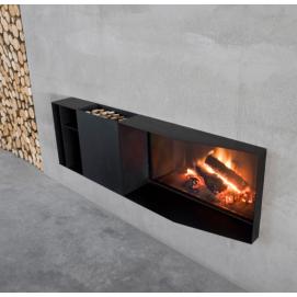 SKEMA Встраиваемый в стену дровяной камин с функцией отопления Antonio Lupi