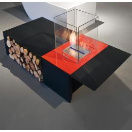 DRAGO Antonio Lupi столик с камином на биоэтаноле