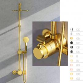 Reflex IB Rubinetterie душевая колонна с термостатом, хром, золото, никель, черный