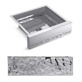 Мойка для кухни полувстраиваемая из нержавеющей стали с молотковым эффектом 60, 76 и 90 см