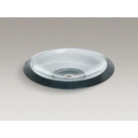 В НАЛИЧИИ Mirovia низкая накладная раковина-тарелка 48см из толстого стекла K-2370 Kohler