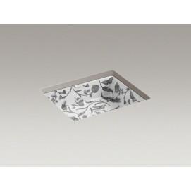 Botanical Study™ design on Kathryn® under-mount bathroom sink