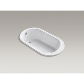 Iron Works Kohler встраиваемая чугунная ванна овальная, классика, 168х91 см, белая, кремовая