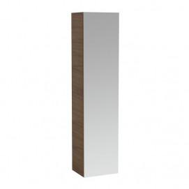 Alessi One Laufen Шкаф подвесной, 400х300х1700мм, с 1 зеркальной дверцей, подсветка, цвет: орех