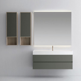 8532 Zenit Milldue 126 см мебель для ванной комплект навесная тумба с раковиной