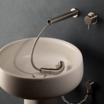 MUST MINA смеситель настенный из нержавеющей стали с выдвижным душем для кухонной мойки или раковины
