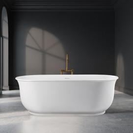Hamilton MTI Bath свободностоящая скульптурная овальная ванна в нео классическом стиле из минерального литья 167х78см