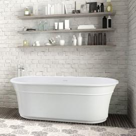 Hudson MTI Bath свободностоящая скульптурная овальная ванна в нео классическом стиле из минерального литья 167х81см