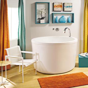 Jasmine MTI Bath круглая глубокая свободностоящая ванна из акрила 130х130х89 см в стиле офуро