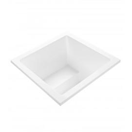 Kalia 2 MTI Bath глубокая встраиваемая сверху или под отделку ванна из акрила 120х120х83 см с интегрированным сиденьем