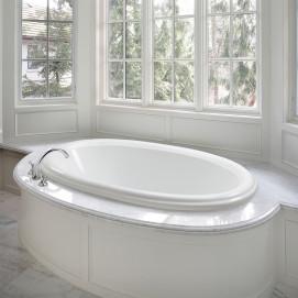 Victoria MTI Bath встраиваемая или свободностоящая овальная акриловая ванна в классическом стиле 150, 170, 180 см с или без гидромассажа
