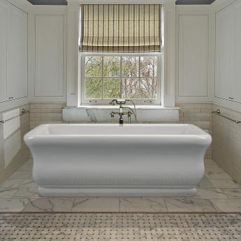 Parisian отдельностоящая прямоугольная ванна в классическом стиле из акрила 150 и 180 см