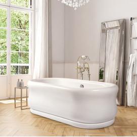Parisian отдельностоящая овальная ванна в классическом стиле из акрила 150 и 180 см