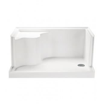 Душевой поддон из минерального литья с интегрированным сиденьем 122 или 150 см